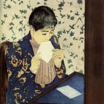 Mary Cassatt. The Letter. 1891.