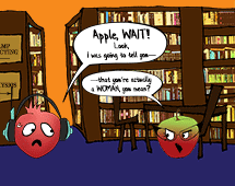 92. Apple and Pomegranate have a frank disagreement