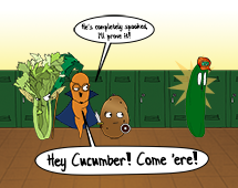 102. Cucumber has a run-in with his greatest fear