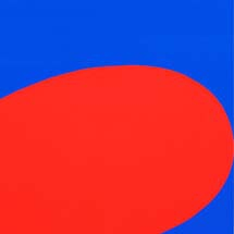 "Ellsworth Kelly. ""Red/Blue."" 1964."