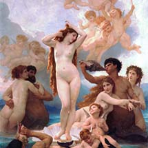 "William-Adolphe Bouguereau. ""The Birth of Venus."" 1879."
