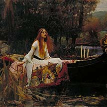 "John William Waterhouse. ""The Lady of Shalott."" 1888."