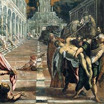 "Tintoretto. ""St. Mark's Body Brought to Venice."" 1562–1566."