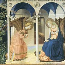 "Fra Angelico. ""The Annunciation."" 1430–1445."